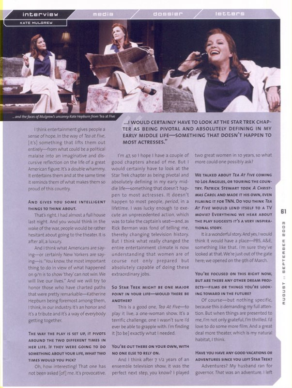 Kate Mulgrew Interview Page 4