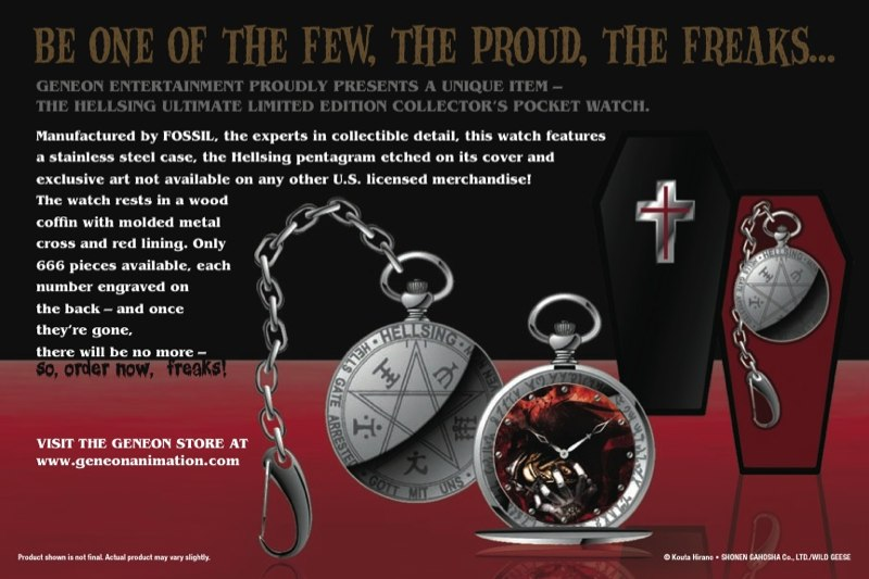 Hellsing Limited Edition Watch Postcard - Back